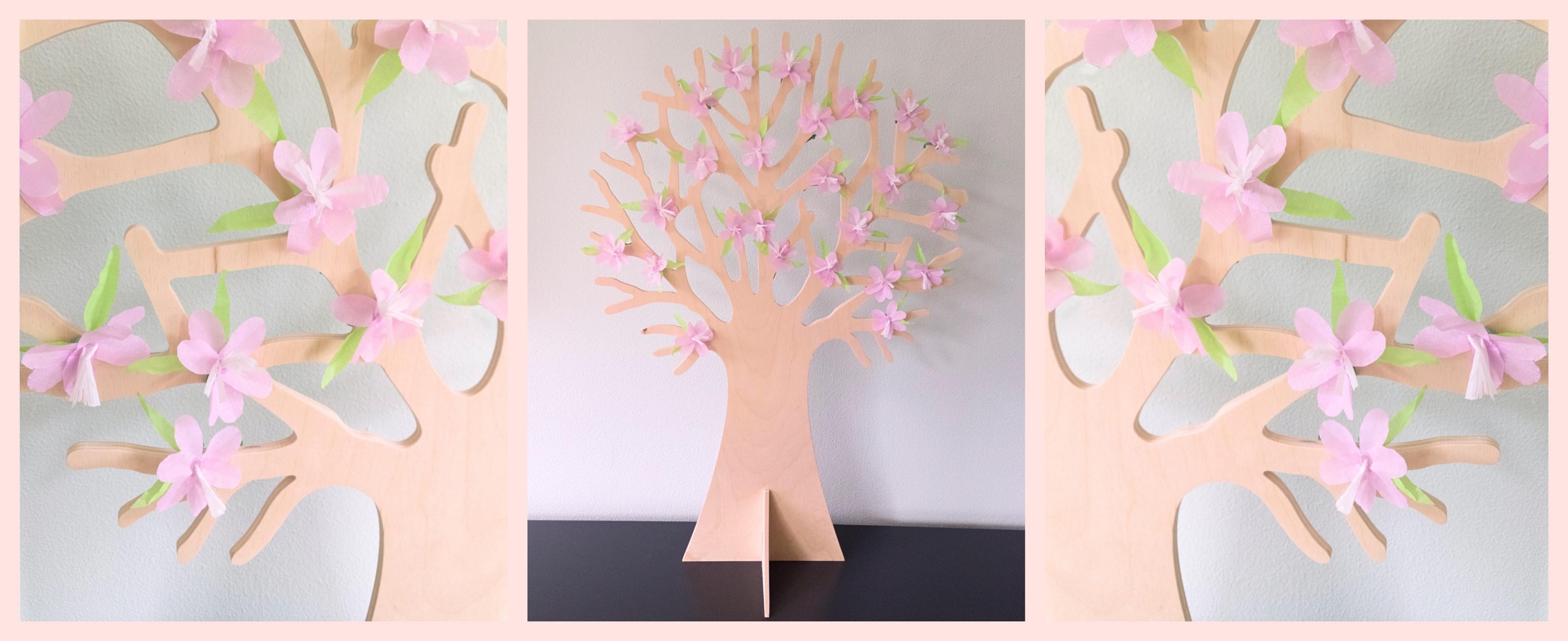Lente bloesem seizoensboom DIY