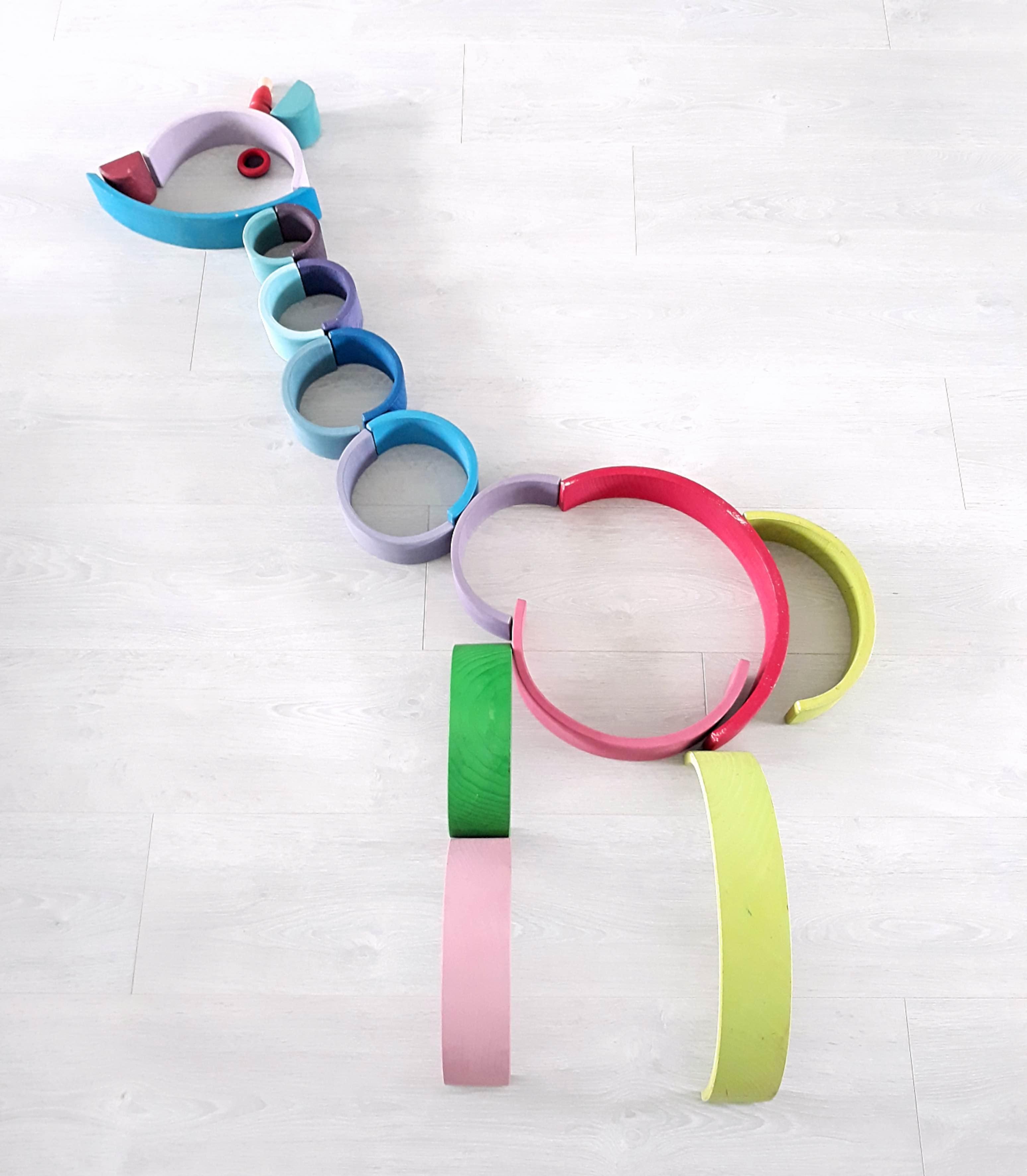 houten regenboog voorbeeld Giraffe